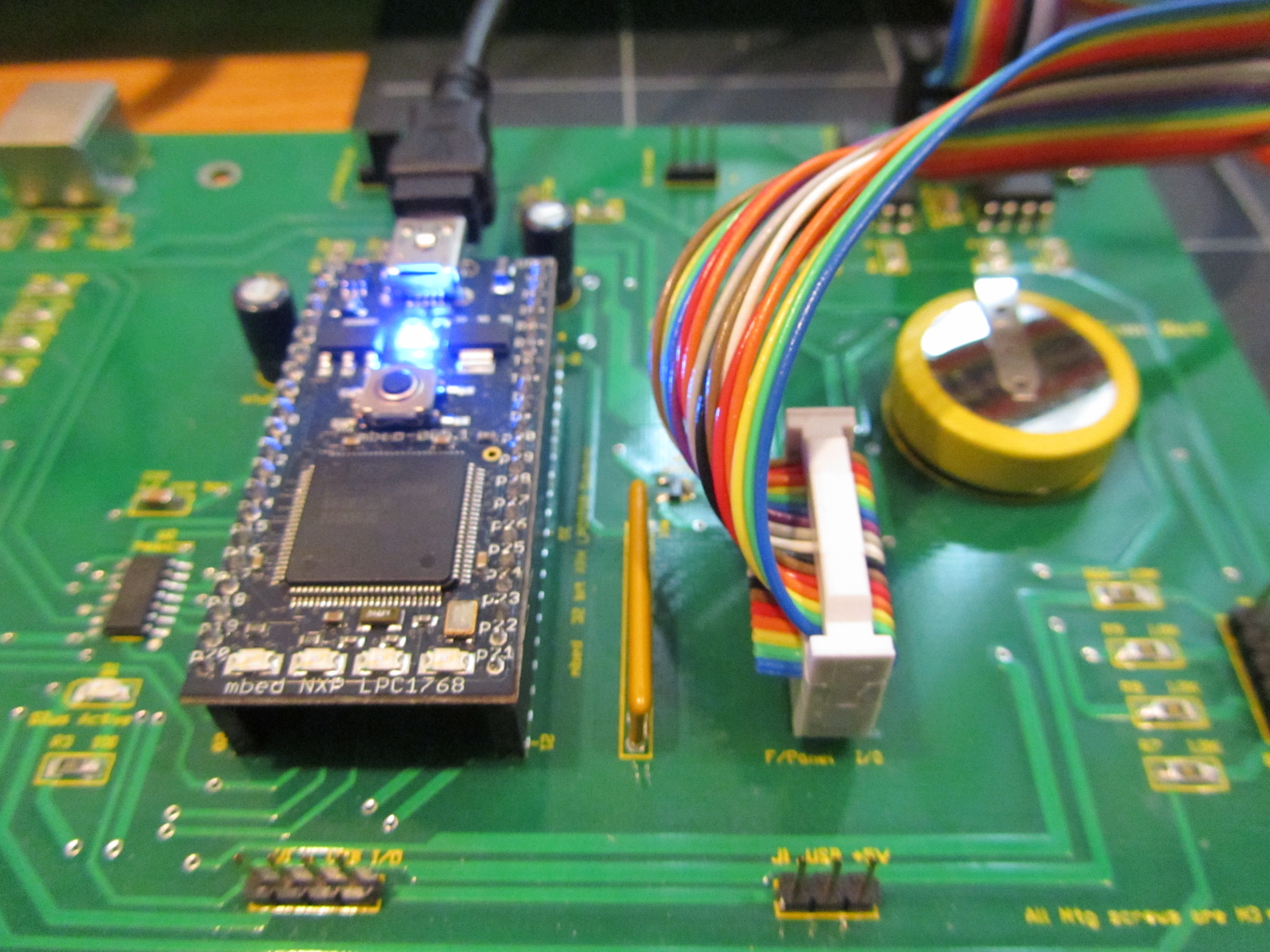 mbed Controller on the CPU Board