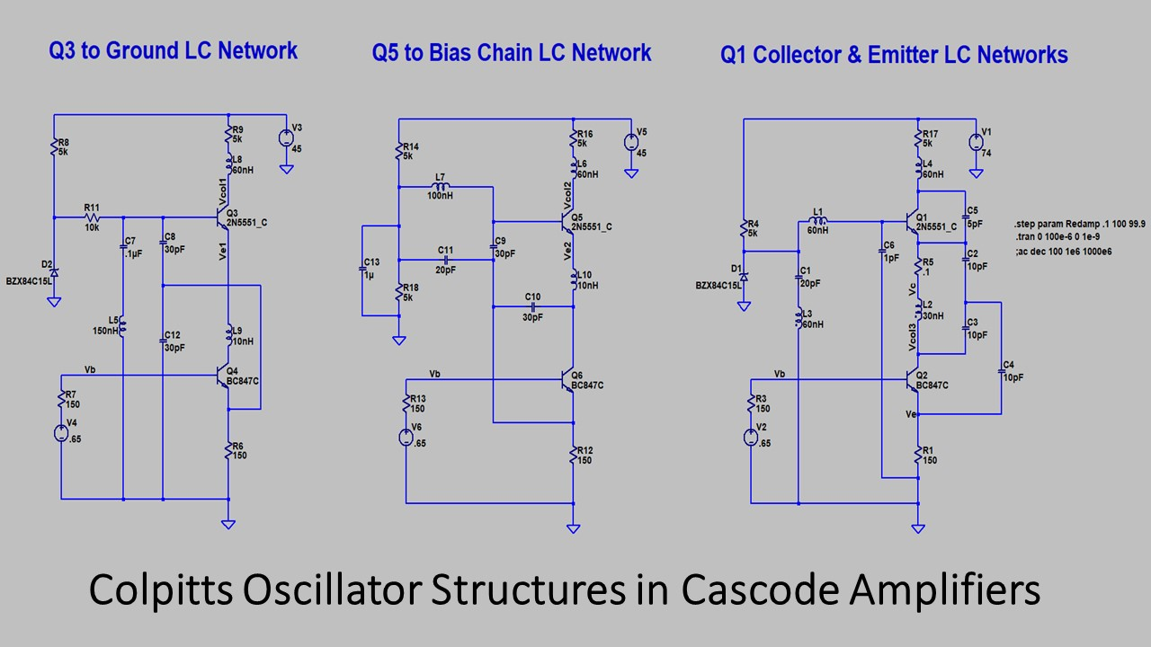 More Notes On Cascode Amplifier Oscillation Circuit Is Placed In The Base To Ground Oscillator Although Pcb Traces A Conventional Analog Are Unlikely Be Long Enough Qualify As Antennas At Frequencies Mentioned